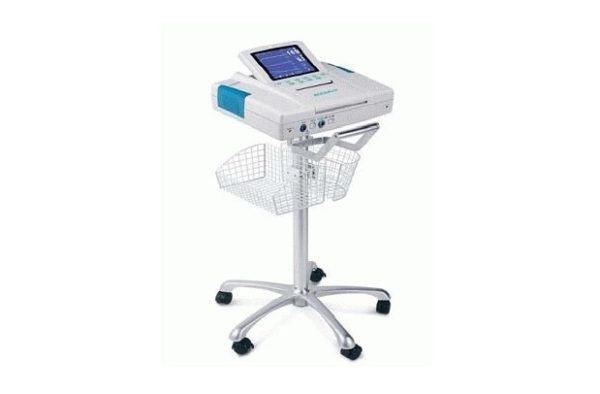 Edan MT-207, EKG Center Pole Trolley Roll Stand w/Basket and Locking Casters, Venture Medical Requip