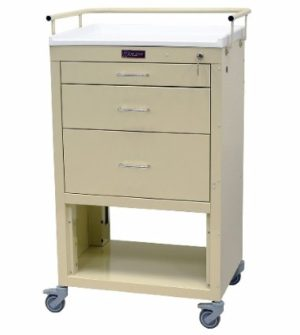 Harloff 4736K, 3 Drawer Mini24 Instrument Cart, Venture Medical Requip