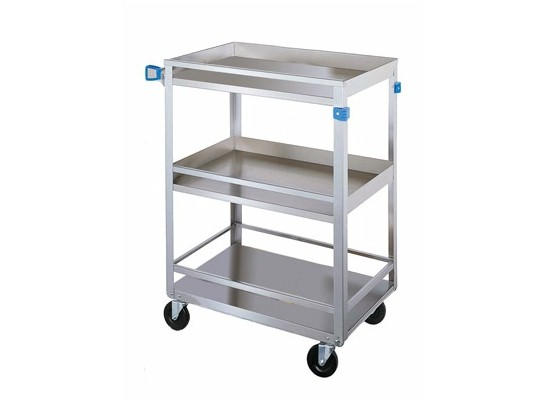 Lakeside Stainless Steel 300 lb Capacity Guard Rail Cart: 316