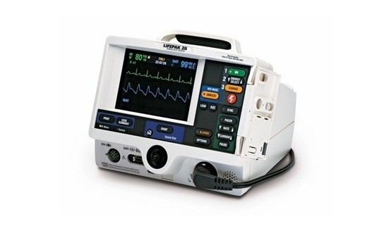 Medtronic, Physio-Control, Lifepak 20, Defibrillator, Medtronic Phyiso-Control Lifepak 20 Defibrillator, Refurbished, Venture Medical Requip