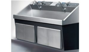 Steris Amsco Flexmatic Double Bay Scrub Sink, Venture Medical Requip