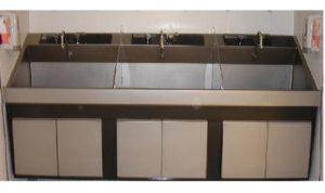 Steris Amsco Flexmatic Triple Bay Scrub Sink, Venture Medical Requip