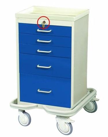 MPD MAT-524, 5 Drawer Mini Tower Cart, Venture Medical Requip