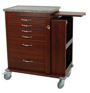 Harloff WV6400SC, Wooden 6 Drawer ER Cart, Venture Medical Requip
